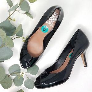 VINCE CAMUTO Peep Toe Black Heels 8M